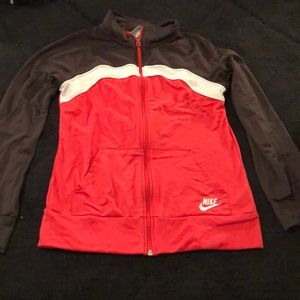 Nike Jackets & Coats - Brown, peach, white nike jacket